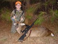 11 year old  Kurt Loudermilk's first deer was taken  with his father's Jarrett .280AI. A  Perfect shot at 140 yards, 20 yard recovery.