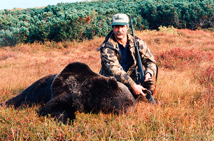 Mike O.Banion bags a bear with his Jarrett.